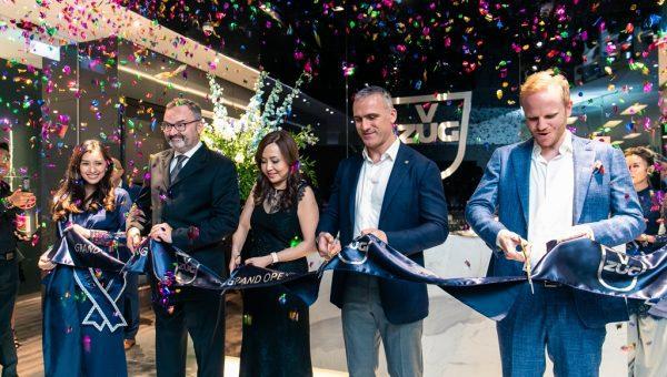 V-ZUG & V Dining Grand Opening_Ribbon Cutting_(L-R) Fabrice Filliez, Angeline Yap, Alberto Bertoz, Jonas Honegger