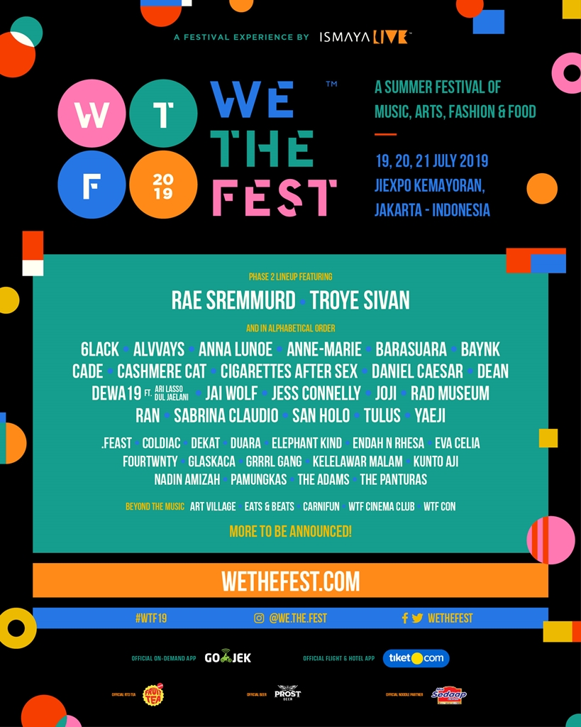 WTF19 - Phase 2 Lineup