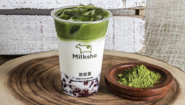 Azuki Matcha Milk