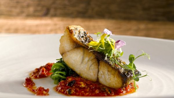 Oven Baked Barramundi Fish Fillet with Pickled Chilli