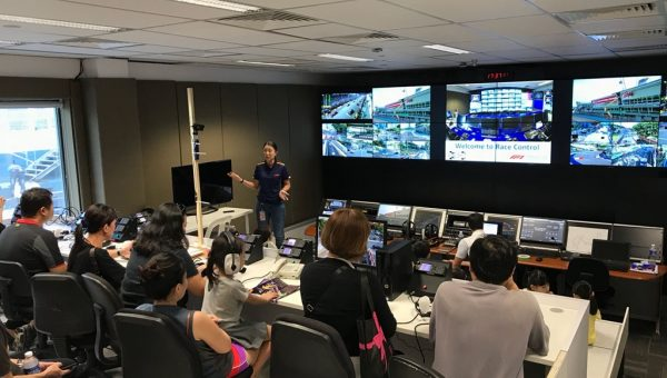 Go on a behind-the-scenes tour at the Marina Bay Street Circuit
