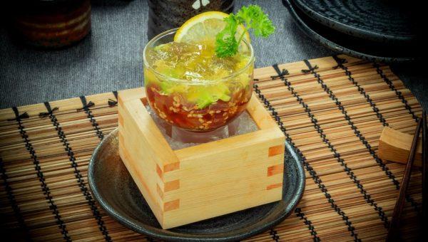 Magura Tartar with Yuzu Jelly