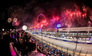 Sky Suites_Fireworks light up the Marina Bay soon after the chequered flag is waved