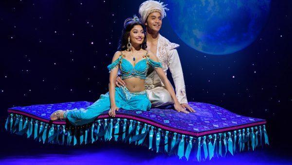 (Flying Carpet) Graeme Isaako as Aladdin with Shubshri Kandiah as Jasmine - James Green (1)