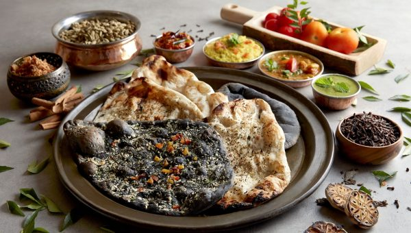 Squid Ink Naan