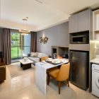 Oakwood Apartments PIK Jakarta - One Bedroom Deluxe Apartment_Living and Dining Area