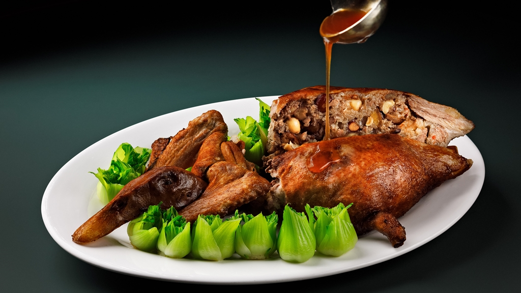 Roast Duck Stuffed with Eight Treasure Sticky Rice