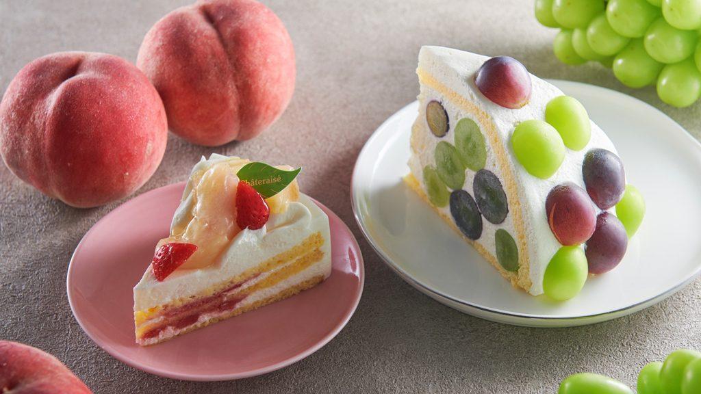 White Peach Cake & Shine Muscat and Pione Zuccotto
