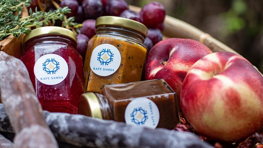 Kafé Samsa's home-made jams and spreads