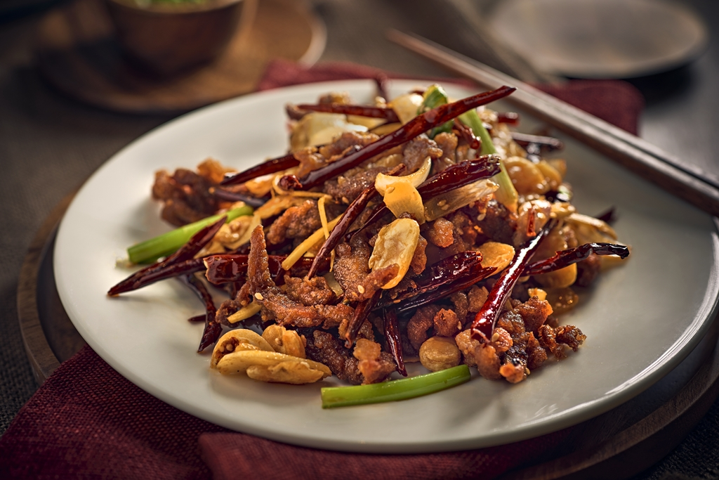 Crispy Duck with Dried Chillies