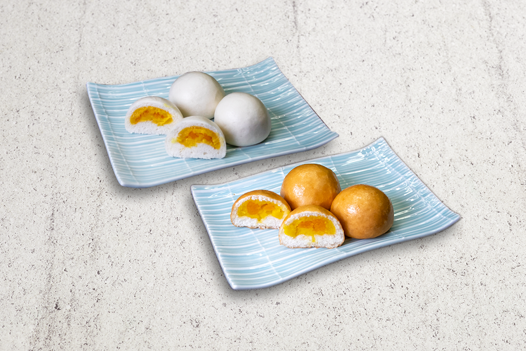 Salted Egg Yolk Custard Bun (3pcs) (Steamed or Fried)