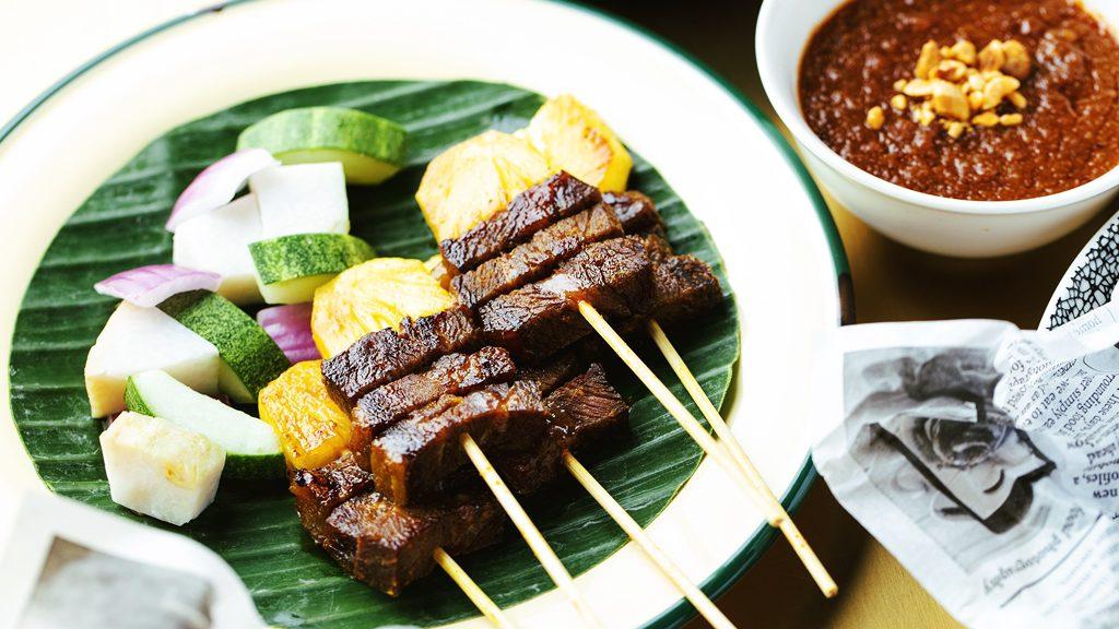 Club 5 Homemade Wagyu Satay with Hazelnut Dip
