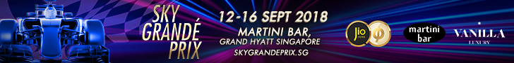 Sky Grande Prix 12-16 September 2018 at Martini Bar, Grand Hyatt Singapore