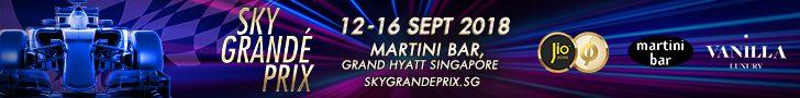 Sky Grande Prix 12-16 September 2018 at Martini Bar, Grand Hyatt Singapore
