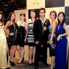 Emily Teng (extreme left), Charmaine Phua (3rd from left), Mister Young (3rd from right), Shareen Wong (extreme right) - looking glamorous at Johnnie Walker Circuit Lounge
