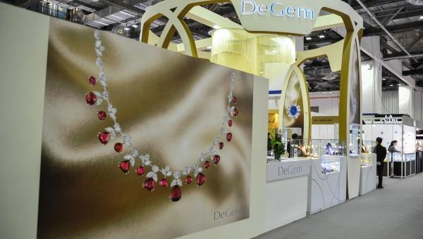 DeGem booth at the Singapore International Jewelry Expo (SIJE) 2013