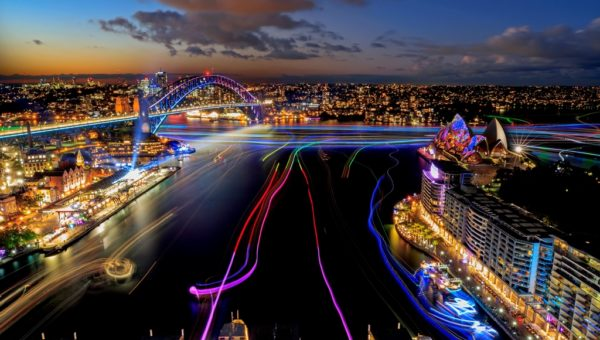 Vivid Sydney 2017, Harbour Lights. 26/5/2017Photo James Horan/Destination NSW