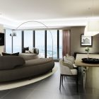 Oakwood Suites Yokohama Three-Bedroom Apartment Living Room Rendering