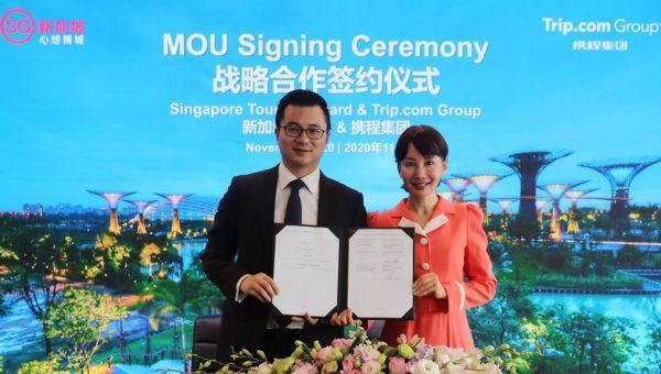 Ms Jane Sun, CEO, Trip.com Group and Mr Edison Chen, GM, Destination Mktg & Govt Relationship (Overseas)